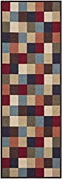 Custom Size Multicolor Tiles Geometric Rubber Backed Non-Slip Hallway Stair Runner Rug Carpet 22 inch Wide Choose Your Length 22in X 6ft