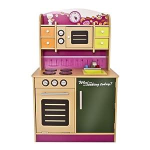 infantastic cocina de juguete de madera aprox 61 x 33