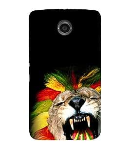 animated glowing tiger face 3D Hard Polycarbonate Designer Back Case Cover for Motorola Google Nexus 6 :: Google Nexus 6