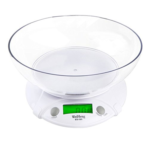 Weiheng WH-B09L Balance de Cuisine 7kg Maximum Précision 1g rétroéclairage - avec un bol