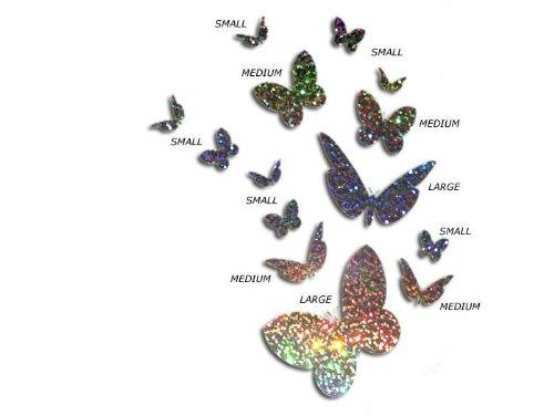 Pegatinas de Mariposas con Purpurina