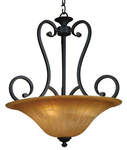 Yosemite Home Decor 94852-4Vb Florence Foyer Pendant With Marble Sunset Shades, 4-Light, Venetian Bronze