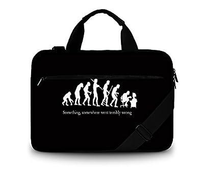 Luxburg® Design gepolsterte Business- / Laptoptasche Notebooktasche bis 14,2 Zoll mit Schultergurt, Mehrzwecktasche