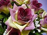 Artificial Silk Flower Dew Drop Rose Gypso Bush (Plum) from GT Decorations