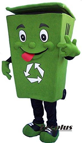 [Kooplus Recycle Bin Mascot Costume Cartoon Costume] (Recycle Bin Costume)