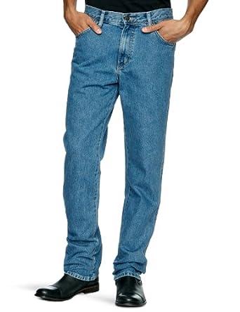 Wrangler Regular Fit Straight Men's Jeans Stonewash W36INxL30IN