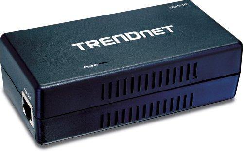 TRENDnet Gigabit Power over Ethernet (PoE) Injector TPE-111GI (Black)