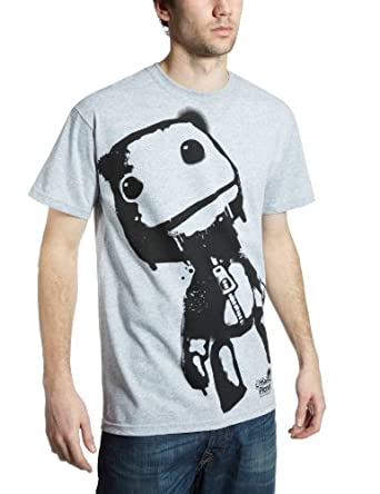 Little Big Planet Sackboy Men's T-Shirt Grey Small