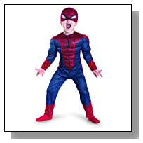 The Amazing Spider-man Movie Muscle Costume, Red/Blue, Small