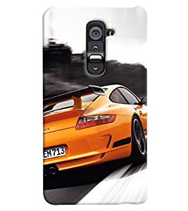 Omnam Sports Car Printed Back Cover Case For LG G2