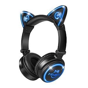 【最新ネコ耳ヘッドフォン】MindKoo キッズ用ヘッドホン Bluetoothネコ耳ワイヤレス密閉型ヘッドホン