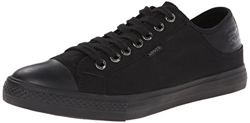 Levis Men's Stan Buck Fashion Sneaker, Black Mono, 9 M US