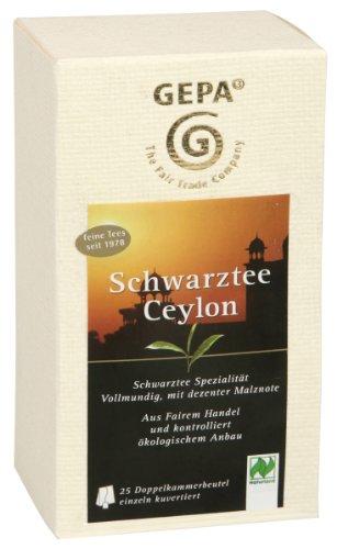 GEPA Schwarztee Ceylon, 5er Pack 5 x 50g (5 x 25 a 2g) - Bio