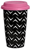 C.R. Gibson IQDMC-14095 Moxie Iota Double Wall Travel to Go Coffee Cup, Multicolor