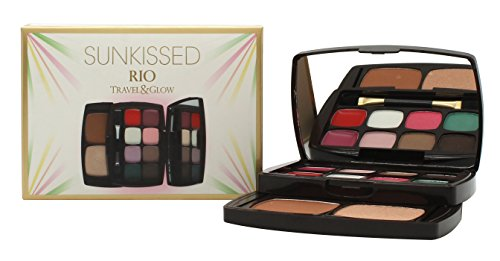 Sunkissed Rio Travel and Glow Confezione Regalo 2 x 0.8g Balsami Labbra + 6 x 1.3g Ombretti + 3.8g Bronzer + 3.8g Highlighter + Applicatore