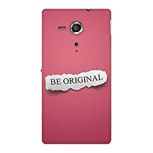 Delighted Be Orignal Multicolor Back Case Cover for Sony Xperia SP