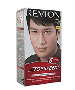 Buy Revlon Top Speed Hair Color Man Natural Black 70 100 G Online At Low Pr