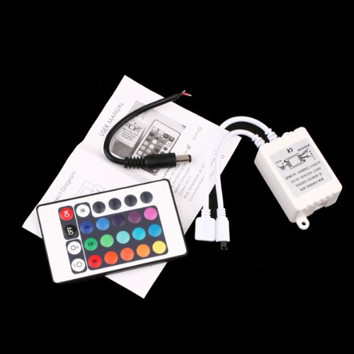 Hkbayi 24 Keys 12V Wireless Ir Remote Controller For 3528 5050 Rgb Led Smd Strip Lights