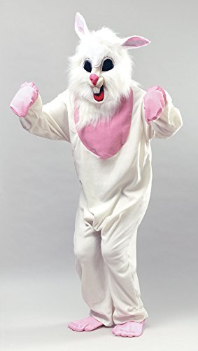 Bristol Novelty White/Pink Bunny. Budget Adult Costume - Men's - One Size