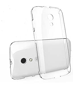 D'clair Combo Transparent Back Case Cover and Aux cable for Motorola Moto E2