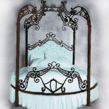 Round Bed Canopy Frame from Sears.com