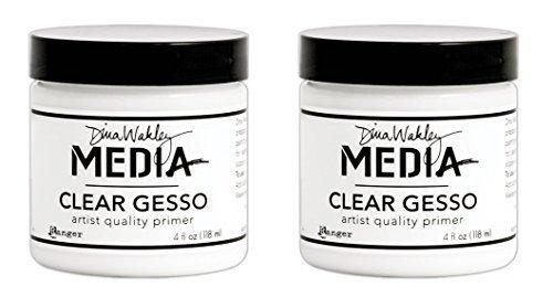 Dina Wakley Media Clear Gesso 4 oz Jar (2 Pack) (Tamaño: 2 pack)