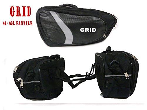 GRID 44-60L Nuovo Borse di stoccaggio, Bisaccia moto Touring Borsa da Sella Borse laterali
