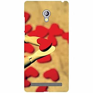 Asus Zenfone 6 A601CG Back Cover - Multi Hearts Designer Cases