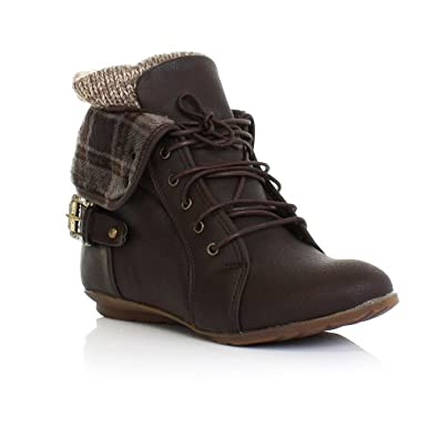 Womens Leather Lace Up Ankle Boots Flat | Homewood Mountain Ski Resort