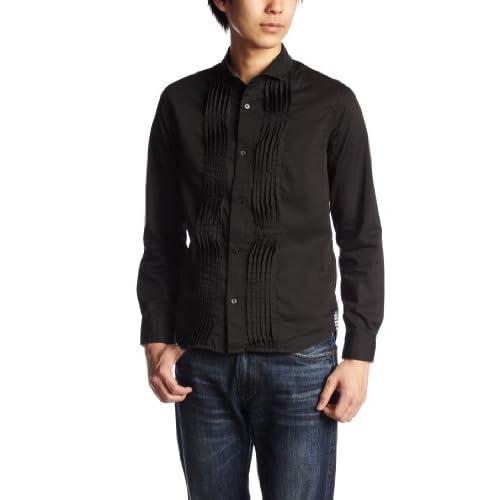 (ビーノ)BENO 柔らかい素材のフロントピンタックシャツ