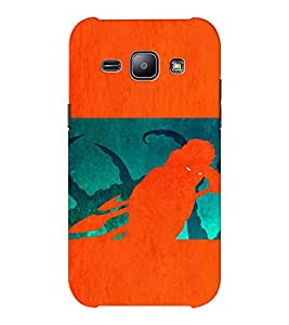 EPICCASE the monster Mobile Back Case Cover For Samsung J1 Ace (Designer Case)
