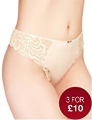 High Rise Floral Lace Thong