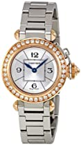 Cartier Miss Pasha Silver Dial Diamond Bezel Ladies Watch WJ124021