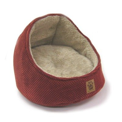 Precision Pet Chenille Hooded Cat Bed Rust