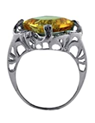 JewelryKarigiri White Citrine With CZ Ring For Women - B00MVVK4G6