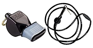 Fox 40 Classic CMG Whistle with Cushioned Mouth Grip (Black)