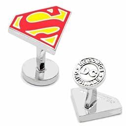 Officially Licensed DC Comics Superman Shield Superhero Logo Cufflinks