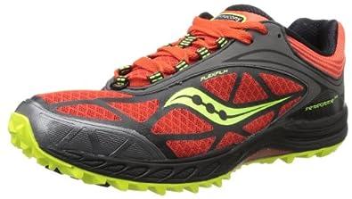 SAUCONY Men's Peregrine 3 Trail Running Shoes, Orange/Black, UK7.5