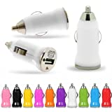 White In-Car Travel Mini Micro Bullet Shaped Compact Travel USB Charger Plug Adapter For Apple iPhone iPad Mini 8GB 16GB 32GB