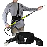 Backyard Accessories Pressure Washer Sling Strap Belt – Telescoping Wand Support Harness – Reduce Strain & Fatigue During Washing – Works with General Pump, BE, MTM & Others (Black) (Color: Black)
