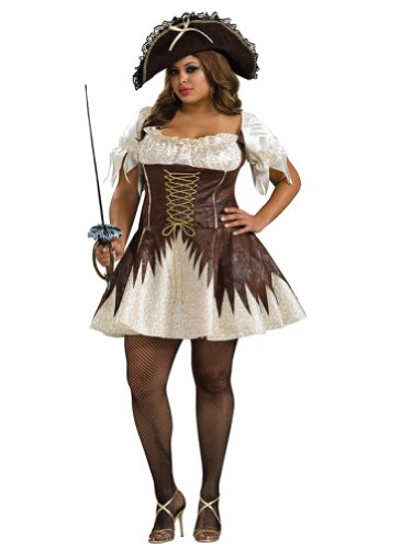 Plus Size Buccaneer Costume Pirate Wench Theatre Costumes Corset Dress