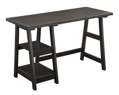 Convenience Concepts Designs2Go Trestle Desk, Espresso (Espresso Desk Small compare prices)