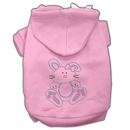 Bunny Rhinestone Hoodies Pink L (14) sexy bikini pattern vest dog apparel pet clothes white brown pink size l