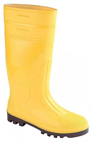 Hausmarke - Stivali di sicurezza con puntale e suola in acciaio, misura 46, giallo