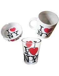 I Love Ny Souvenir Package , New York Souvenirs, I Love NY Mug, I Love NY Shot Glass , I... by Forgot My Souvenirs