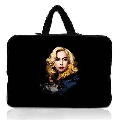 Art Laptop Case,Laptop Handbag with Artisty Devushki Edi Aga Lady Gaga Lyudi Muzyka Patterns Waterproof Canvas Fabric 15 15.6 Inch Laptop Bag Case Cover(Twin Sides)
