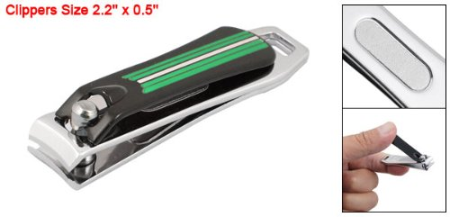 Green Stripes Design Built-in File Nail Clippers Cutter