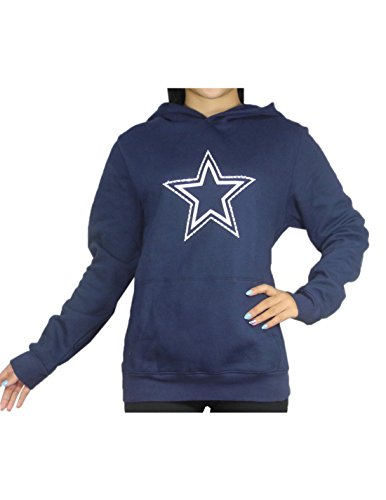 Pink Victoria's Secret discount duty free Pink Victoria's Secret Damen NFL Dallas Cowboys Hoodie mit Strass M dunkel blau