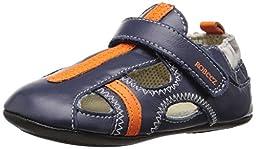 Robeez Rugged Rob Hard Sole Mini Shoe (Infant), Navy, 9-12 Months M US