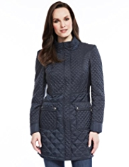 M&S Collection Shower Resistant Mini Quilted Coat with Stormwear™